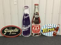 4 Soda Themed Metal Signs - Reproductions