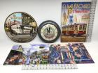 4 Tin Signs and A Wall Clock - Reproductions