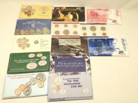 Coin mint sets - 1990 through 1998 with one extra 1996 and two 1999 state quarter and coin sets