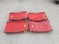 Set of four car mover dollies
