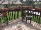 Flower pots and holders, small bench