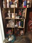 Contents of shelves in closet not including paint and paint tools