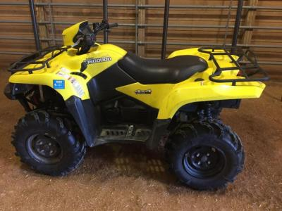 2009 Suzuki KingQuad 4x4 750 axi, mileage 2,972. One owner, brand new tires less than 50 miles on them, winch, rear hitch - this item has a reserve