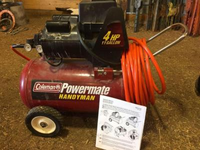 Coleman Powermate Handyman Air Compressor-4 hp, 11 gallon
