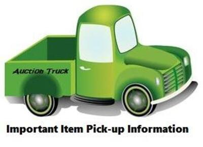 Pick up will be Wednesday June 19th from 3 - 5 PM in Cedar Rapids. BE SURE YOU CAN PICKUP AT THIS TIME BEFORE BIDDING.