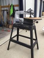 Dremel brand 16 inch variable speed scroll saw-mounted Model 1680