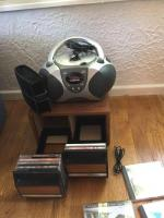 CD player and CD's, CD holder