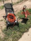 Electric lawn more and weedeater with extension cords