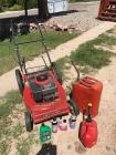 21 inch Murray mulcher lawnmower and gas cans