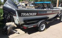 1988 MAGNA 17 Convertible Tracker fishing boat HULL ID#BUJ21872F888, Mercury Outboard 120 (motor has just been rebuilt); 1989 Yacht Club trailer