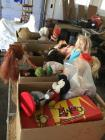 Vintage children's toys---bears, doll clothes, dolls, bingo game, puzzles. See all photos