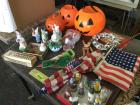 Miscellaneous holiday items --- Christmas, Easter, Halloween, US flags. See photo