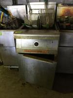 FryMaster gas floor fryer in unknown working condition. See photos