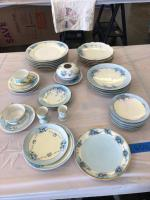 Vintage blue flower patterned china. Please see the photos