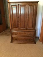 Ethan Allen armoire dresser and matching nightstand See description for measurements