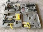Three porter cable pneumatic nailers, narrow crown and Brad nailers