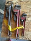 Set of three pipe wrenches