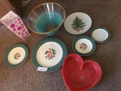 Painted plates and dishes