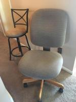 Secretarial swivel office chair and swivel stool