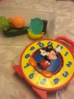 Fisher-Price Mickey Mouse clock and fruit