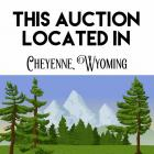 Please be aware, all items in this auction are located in Cheyenne, Wyoming and will need to be picked up in Cheyenne.