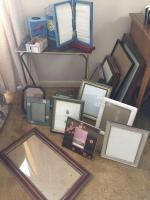 Lots of photo frames, TV trays