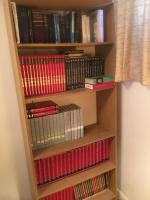 Five shelf bookcase with books 30 x 12 x 70