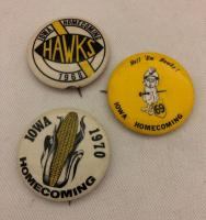 3-IOWA HOMECOMING BADGES 1968-1969-1970