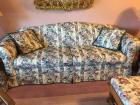 HillCraft Floral sofa, loveseat, ottoman and pillow- very clean and nice condition (Ottoman is a glider footstool)