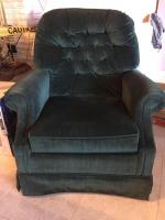 La-Z-boy swivel & rocker hunter green side chair