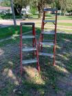 Louisville 5 foot step ladder and modified 4 foot Louisville step ladder