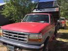 1995 Ford pickup 4x4, lock out hubs with Omaha Standard Dump bed, XLT F250 Power stroke diesel