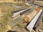 Various sizes telephone poles approximately 16', landscaping wood