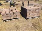 Two pallets cap blocks, landscaping cement blocks