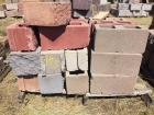 Four pallets landscaping cement blocks, top cap, bricks