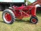 1944 Farmall m with live hydraulic add-on and trip bucket loader serial number 71718