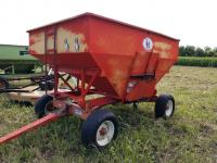 Kory gravity wagon approx 180 By, on Kory 6072 gear 11.5 x15 tires.