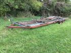 Donahue 28' drop deck implement trailer with bridge plank decking