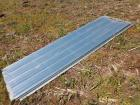 Approximately 15 sheets of 11 foot galvanized roof 10 used