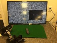 "Hitachi 38"" TV with remote, wall mount bracket"