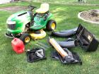 "John Deere L110 automatic mower 42"" deck, Kohler command motor, 280 hrs w/ twin rear bagger **Mower will be available for pick up on 10/15-details provided to winning bidder**"