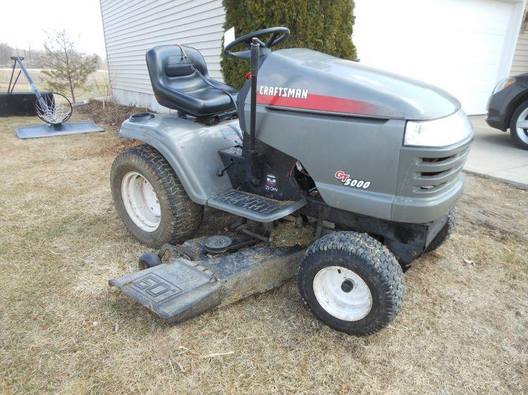 Craftsman Model 917 Push Mower : Craftsman gt riding mower with quot deck model