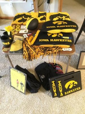 Iowa Hawkeye game day items