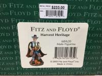 Two Fitz and Floyd figurines-Harvest Heritage female figurine and Harvest Heritage male figurine