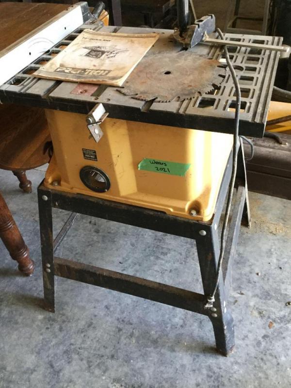 Lot 202110 Pro Tech Bench Saw Model 4106