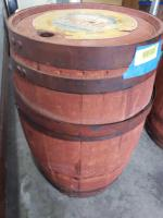 "Wooden syrup barrel Measures approx. 21"" tall"