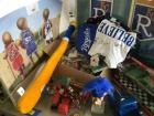 Kansas City Royals related items, die cast, Hamms pony keg, Hoop Sensations sports poster, baseball cards and more