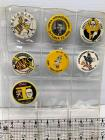 7 IA Hawkeyes Homecoming badges-1965, 1966, 1967, 1968, 1969, 1971, 1974