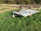 6x10 homemade trailer w/ lightweight deck made out of 2x4's and roofing metal. Includes over the cab ladder rack for a pickup and old Post drill  No t