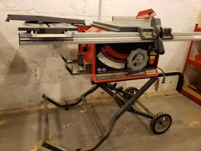 "Craftsman professional 10"" table saw and all accessories which include fence guide system, hold down"